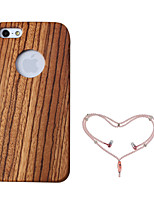 abordables -Funda Para Apple Funda iPhone 5 Antigolpes Funda de Cuerpo Entero Fibra de Madera Dura De madera para iPhone 5