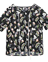 cheap -Women's Butterfly Sleeve T-shirt - Floral, Bow