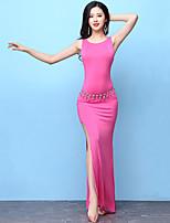 cheap -Belly Dance Outfits Women's Training Modal Split Sleeveless High Dress Shorts