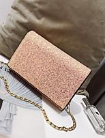 cheap -Women's Bags PU Shoulder Bag Buttons / Zipper for Casual Black / Silver / Rainbow
