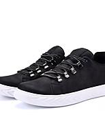 Недорогие -Муж. обувь Полиуретан Весна Осень Удобная обувь Кеды для Повседневные Черный Черно-белый