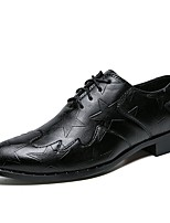 cheap -Men's Shoes Leatherette Spring Fall Formal Shoes Oxfords for Wedding Office & Career Black
