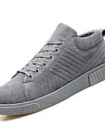 Недорогие -Муж. обувь Резина Весна Осень Удобная обувь Кеды для на открытом воздухе Черный Серый Коричневый