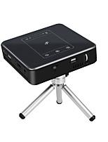 abordables -PULIERDE PJ-50 DLP Vidéoprojecteur de Cinéma 150lm Android 7.1 Soutien 4K 40-300inch Écran