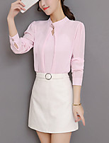 cheap -Women's Slim Blouse - Solid Stand