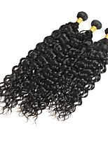 cheap -Brazilian Hair Remy Curly Human Hair Weaves 3pcs 0.3