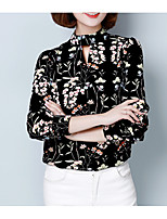 cheap -Women's Holiday Basic Blouse - Floral, Print Crew Neck