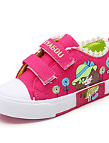 cheap -Girls' Shoes Canvas Spring Fall Comfort Sneakers for Casual Red Blue Pink