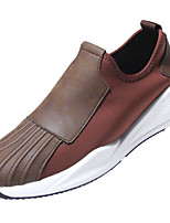 cheap -Men's Shoes Microfibre Spring Fall Comfort Loafers & Slip-Ons for Casual Black Brown