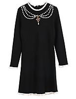 abordables -Femme Ample Robe - Imprimé, Couleur Pleine Mini