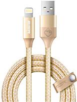 Недорогие -Подсветка Адаптер USB-кабеля Быстрая зарядка Высокая скорость Кабель Назначение iPhone 100 cm Нейлон