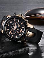 baratos -SHIFENMEI Homens Quartzo Relógio de Moda Relógio Casual Calendário Mostrador Grande Relógio Casual Silicone Banda Luxo Fashion Preta