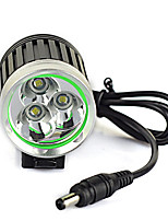 cheap -Headlamps LED 6000 lm 1 Mode Professional / Wearproof / Lightweight Camping / Hiking / Caving / Cycling / Bike / Hunting Black