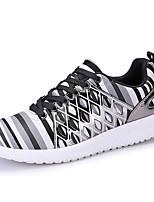 baratos -Homens sapatos Couro Ecológico Primavera Outono Conforto Tênis para Casual Dourado Preto Cinzento
