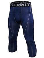 economico -Per uomo Pantaloni a 3/4 da corsa Asciugatura rapida Design anatomico Leggero 3/4 Collant/Corsari Pantaloni Esercizi di fitness Attività
