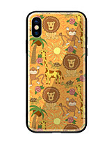 abordables -Coque Pour Apple iPhone X iPhone 8 Motif Coque Animal Dur Verre Trempé pour iPhone X iPhone 8 Plus iPhone 8 iPhone 7 iPhone 6s Plus