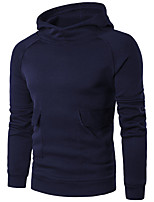 cheap -Men's Street chic Hoodie Hoodie Jacket - Solid Colored