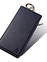 baratos -Capinha Para Apple iPhone X iPhone 7 Plus Porta-Cartão Carteira Antichoque Capa Proteção Completa Côr Sólida Rígida PU Leather para