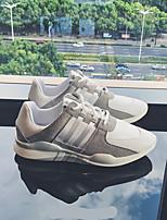 abordables -Homme Chaussures Croûte de Cuir Hiver Automne Confort Basket pour Décontracté Blanc Noir