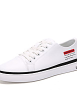 Недорогие -Муж. обувь Искусственное волокно Весна Осень Удобная обувь Кеды для Повседневные Белый Черный Красный