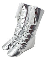 cheap -Women's Jazz Leatherette Flat Indoor Flat Heel Gold Silver Customizable