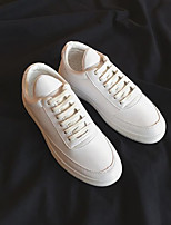 cheap -Men's Shoes Leatherette Spring Fall Comfort Sneakers for Casual White Black Red