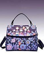 cheap -Women's Bags PU Shoulder Bag Zipper for Casual All Seasons Purple