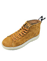 cheap -Men's Shoes Nubuck leather Spring Fall Comfort Boots Booties/Ankle Boots for Casual Black Khaki