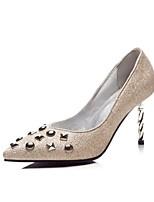 Недорогие -Жен. Обувь Лак Весна Осень Удобная обувь Обувь на каблуках Каблуки на заказ Заостренный носок Заклепки для Офис и карьера Для вечеринки /