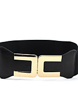 cheap -Women's Vintage Casual Fabric Alloy Wide Belt - Solid Colored