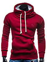 cheap -Men's Sports Casual Street chic Long Sleeves Slim Hoodie - Solid Colored Hooded