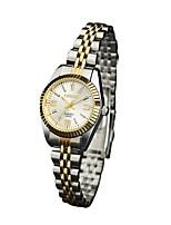 preiswerte -Damen Quartz Armbanduhren für den Alltag Japanisch Armbanduhren für den Alltag Legierung Band Freizeit Silber Gold