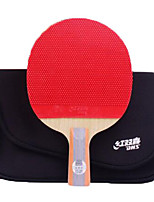 cheap -DHS® R6006-R6007 Ping Pang/Table Tennis Rackets Wood Rubber 6 Stars Short Handle Pimples