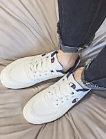baratos -Homens sapatos Couro Ecológico Primavera Outono Conforto Tênis para Casual Vermelho Azul