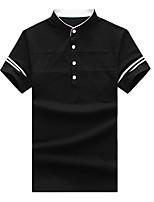 cheap -Men's Sports Active Cotton Polo - Color Block, Basic Patchwork Shirt Collar