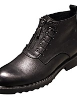 cheap -Men's Shoes Cowhide Winter Combat Boots Boots Booties/Ankle Boots for Casual Black Brown