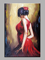 cheap -Oil Painting Hand Painted - Abstract People Classic Vintage Canvas