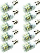 preiswerte -10 Stück 3W 200lm E14 G9 GU10 E26 / E27 E12 LED Mais-Birnen T 60 LED-Perlen SMD 2835 Dekorativ Warmes Weiß Kühles Weiß 220-240V