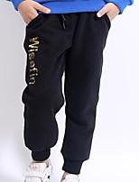 cheap -Boys' Daily Solid Pants, Cotton Linen Bamboo Fiber Acrylic Spring Sleeveless Simple Black Gray