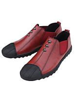 cheap -Men's Shoes Cowhide Spring Fall Comfort Sneakers for Casual Black Burgundy