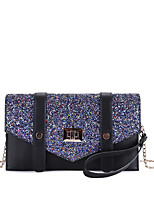 cheap -Women's Bags PU Wristlet Beading for Event/Party Casual All Seasons Black Gray Dark Green