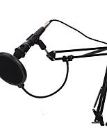 abordables -KEBTYVOR E-300 Câblé 3.5mm Microphone Micro Microphone 3,5 mm microphone studio Microphone à Condensateur Microphone à Main Pour