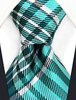 baratos -gravata do rayon do trabalho do partido dos homens - jacquard da manta do bloco da cor