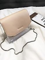 cheap -Women's Bags PVC / PU Shoulder Bag Zipper for Casual Black / Silver / Khaki