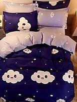 cheap -Duvet Cover Sets Contemporary 3 Piece Poly/Cotton 100% Cotton Reactive Print Poly/Cotton 100% Cotton 1pc Duvet Cover 1pc Sham 1pc Flat