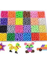 cheap -24 crystal water mist Magic beads suit 3D Puzzles Parent-Child Interaction Plastic 3600pcs Family Toy Kid's Gift