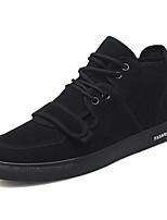 Недорогие -Муж. обувь Искусственное волокно Весна Осень Удобная обувь Кеды для Повседневные Черный Красный
