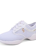 "cheap -Women's Dance Sneakers Breathable Mesh Sneaker Outdoor Low Heel White Black 1"" - 1 3/4"" Customizable"
