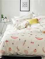 cheap -Duvet Cover Sets Floral 4 Piece 100% Cotton Reactive Print 100% Cotton 1pc Duvet Cover 2pcs Shams 1pc Flat Sheet