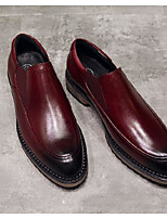 cheap -Men's Shoes Cowhide Nappa Leather Spring Fall Comfort Loafers & Slip-Ons for Casual Black Wine